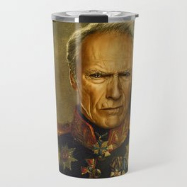 Clint Eastwood - replaceface Travel Mug