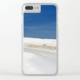 White Sand Reaches Up To The Horizon Clear iPhone Case