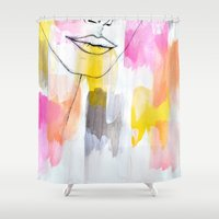 lips Shower Curtains featuring Lips by Alexandra Str