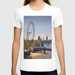 London Eye Houses of Parliament England T-shirt