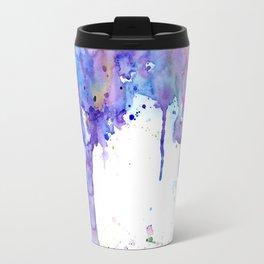 Watercolor Abstract Purple Tree Travel Mug