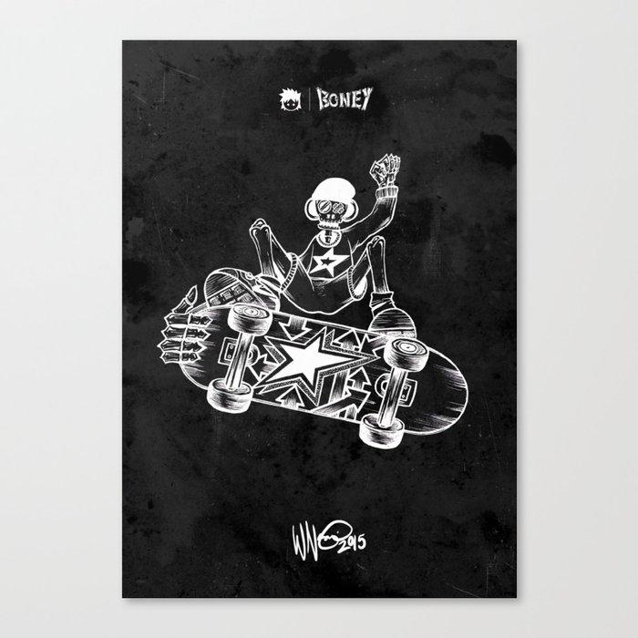 Boney Skateboarding series - 02 Canvas Print