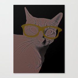 Yoshi Cat Glasses Canvas Print