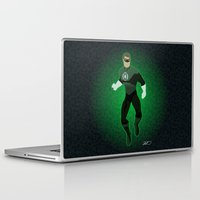 green lantern Laptop & iPad Skins featuring Green Lantern by The Vector Studio