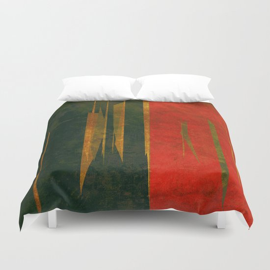 竹林の戦い (battle in the bamboo forest) Duvet Cover