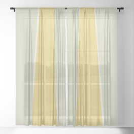 Soft Vintage Color Block Sheer Curtain