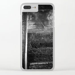 Cemetery Cobweb Clear iPhone Case