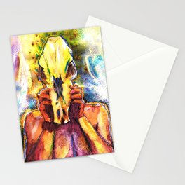 Ollie with a Skull Stationery Cards