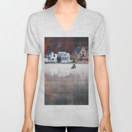 Foggy Fishy Morning Unisex V-Neck