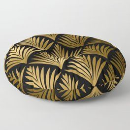 Luxurious Black and Gold Art Deco Elegant Pattern Floor Pillow