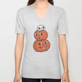 Halloween Pumpkin Pyramid Unisex V-Neck