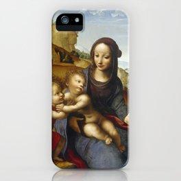 "Fernando Yáñez de la Almedina ""The Virgin with Child and Little (Infant) Saint John [the Baptist]"" iPhone Case"