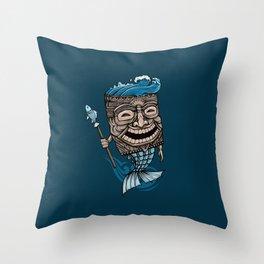 Tiki Merman Throw Pillow