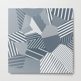 Finite resistance #83 - Voronoi Stripes Metal Print