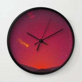 A shooting star Wall Clock