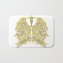 Cross with Angel wings Bath Mat