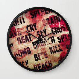 THE LOST MANIFESTO by ZZGLAM Wall Clock