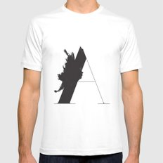 A is for Astronom White Mens Fitted Tee MEDIUM