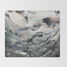 Dark Geode Throw Blanket