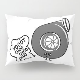 What does the turbo say? Pillow Sham