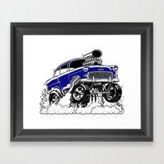 55 Gasser REV-3 BLUE Framed Art Print
