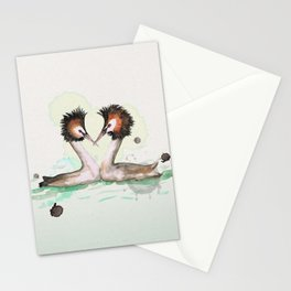 Two great crested grebes Stationery Cards