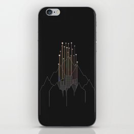 Deserted City Covered By Mountains iPhone Skin