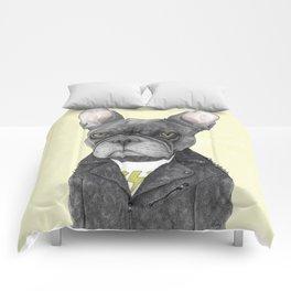 Hard Rock French Bulldog Comforters