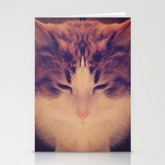 Symmetrical Feline Stationery Cards