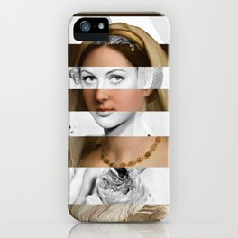 Raphael's Woman with a Veil & Hedy Lamarr iPhone Case