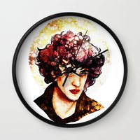 grantaire Wall Clocks featuring Grantaire watercolour by chazstity