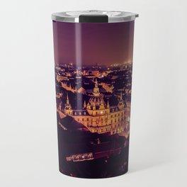 Night view of Graz city Travel Mug