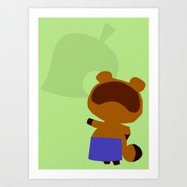 Animal Crossing Tom Nook Art Print