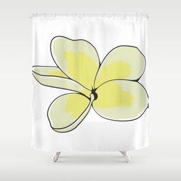 Frangipani Plumeria Flower Shower Curtain