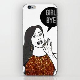 Girl Bye iPhone Skin