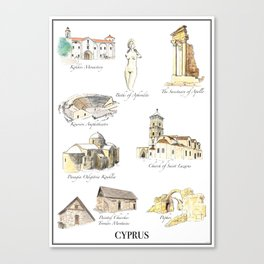 Best of Cyprus - Visit Cyprus through its most famous sites Canvas Print