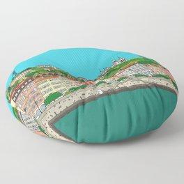 Lyon, France Floor Pillow