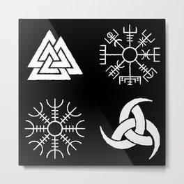 Viking Symbols Metal Print