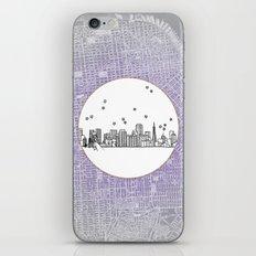 San Francisco, California City Skyline Illustration Drawing iPhone & iPod Skin