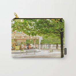 Charming Carousel in Paris France Carry-All Pouch