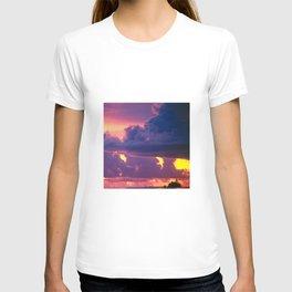 Purple Sunset Over Tiny Island in Micronesia T-shirt