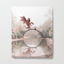 Dragon & Princess Metal Print