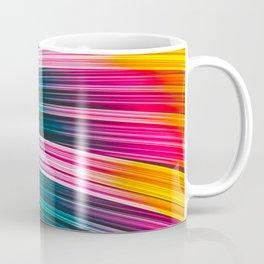 Color Prism Burst Wave. Abstract Strands Coffee Mug