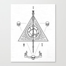 Deathly Hallows (White) Canvas Print