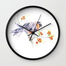 British Birds 2012 Series - Bullfinch Wall Clock