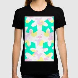 Flamingo vibrant motif T-shirt