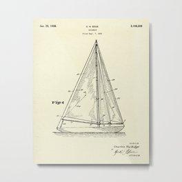 Sailboat-1938 Metal Print