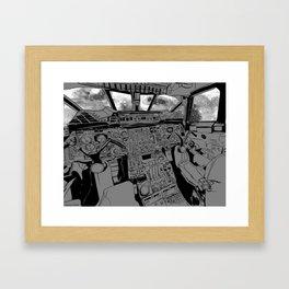 SpaceJet (B/W) Framed Art Print