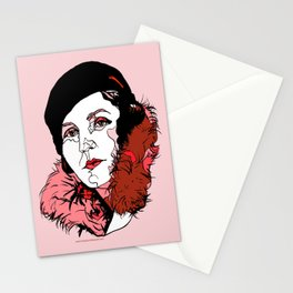 Germaine Tailleferre Female Composer Les Six, Ravel Paris Piano Harp vintage 1920s flapper lady Stationery Cards