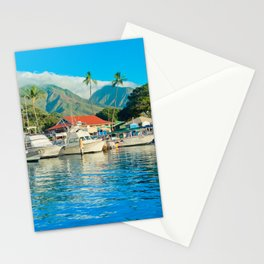 Lāhainā Marina Sunset Maui Hawaii Stationery Cards